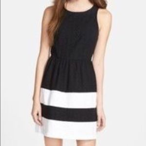 Kensie Fit and Flare Eyelet Dress Size S